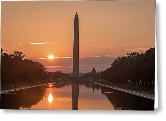 Monument Sunrise Greeting Card by Michael Donahue