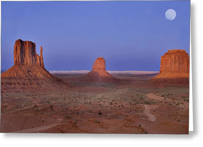 Monument Valley At Dusk Greeting Card by Joel P Black