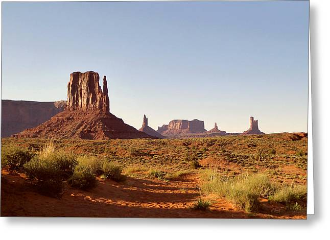 Monument Valley Calm Greeting Card by Gordon Beck