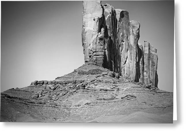 Monument Valley Camel Butte Black And White Greeting Card by Melanie Viola
