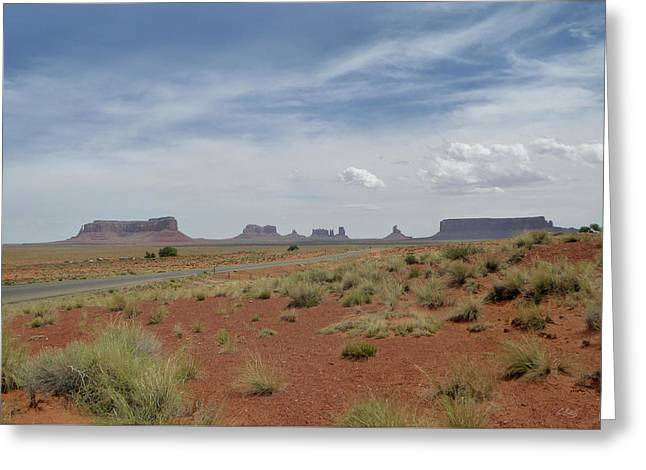 Monument Valley Horizon Greeting Card by Gordon Beck