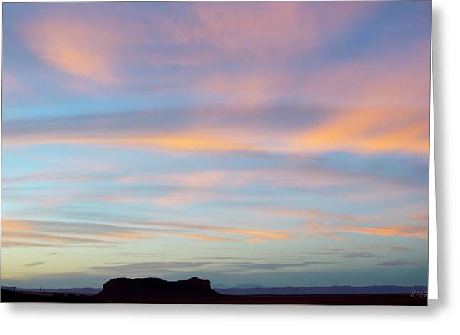 Monument Valley Ix  Greeting Card by David Gordon