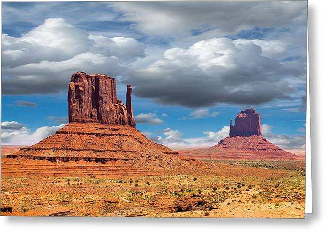 Monument Valley Greeting Card by Jon Manjeot