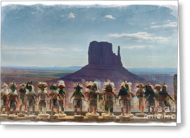 Monument Valley Kachina Dolls Greeting Card
