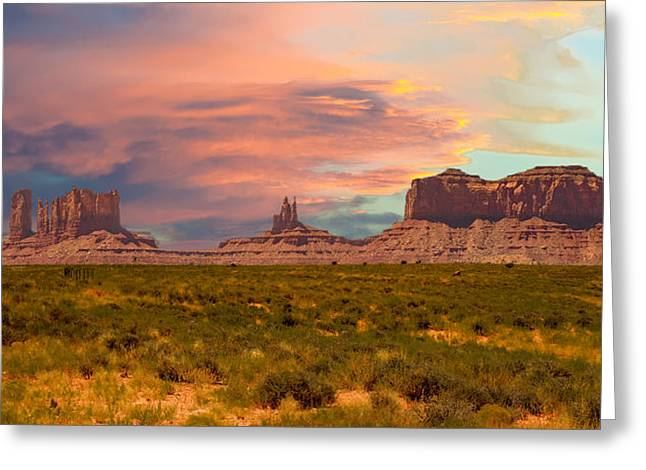 Monument Valley Landscape Vista Greeting Card