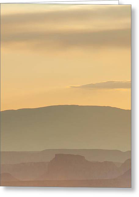 Monument Valley Layers Greeting Card by Az Jackson
