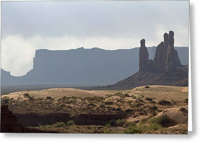 Monument Valley Greeting Card by Mike Irwin