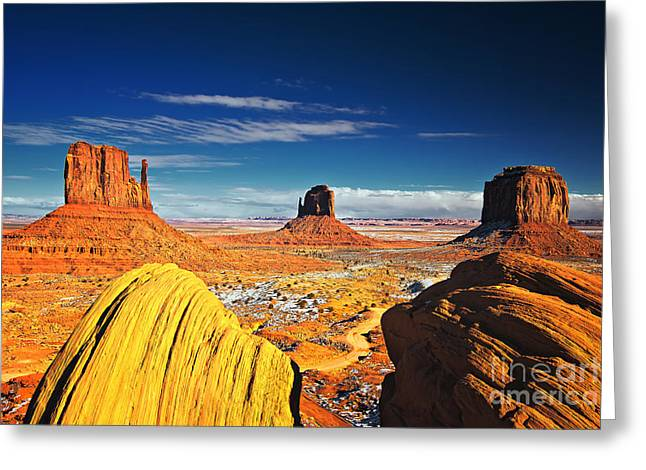Monument Valley Mittens Utah Usa Greeting Card