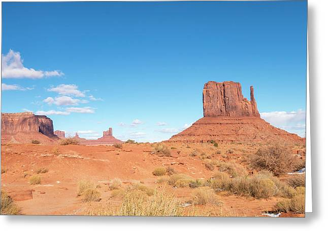 Greeting Card featuring the photograph Monument Valley National Park In Arizona, Usa by Josef Pittner