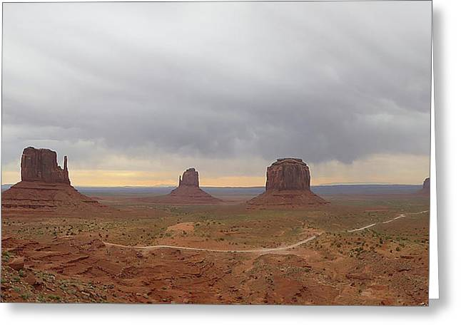 Monument Valley Panorama Greeting Card by Gordon Beck