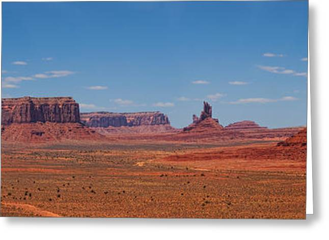 Monument Valley Panoramic Greeting Card