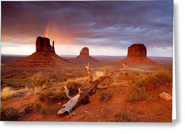 Monument Valley Rainbow Greeting Card by Eric Foltz
