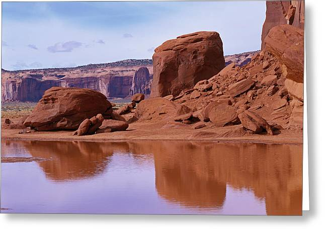 Monument Valley Reflection Greeting Card