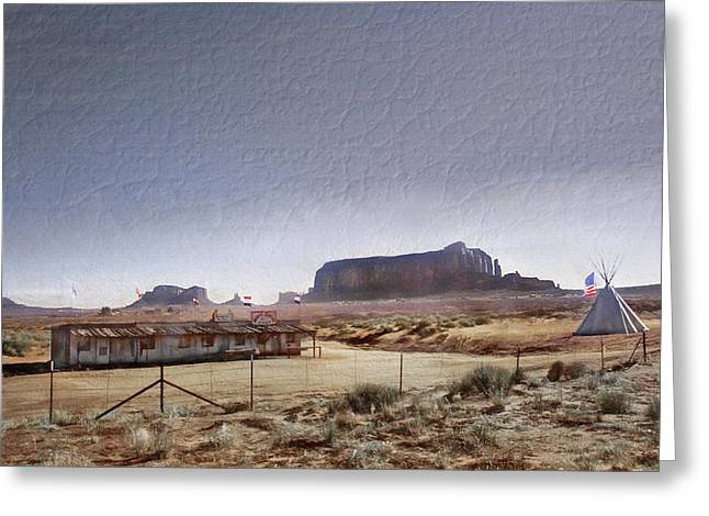Monument Valley - Reservation Greeting Card by Steve Ohlsen