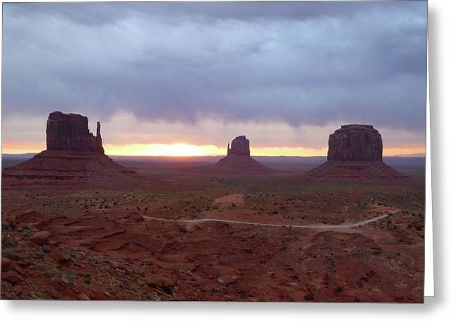 Monument Valley Sunrise Greeting Card by Gordon Beck