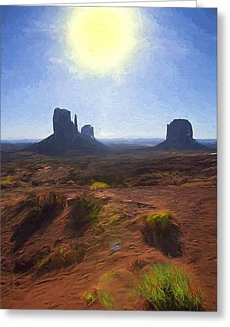 Monument Valley - Sunrise Vista 2 Greeting Card by Steve Ohlsen