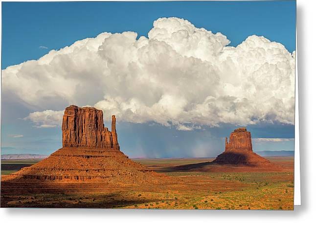 Monument Valley Thunderstorm Greeting Card