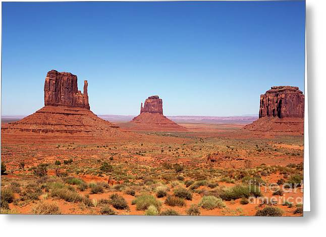Monument Valley Utah The Mittens Greeting Card