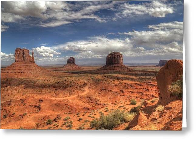 Greeting Card featuring the photograph Monument Valley View by Donna Kennedy