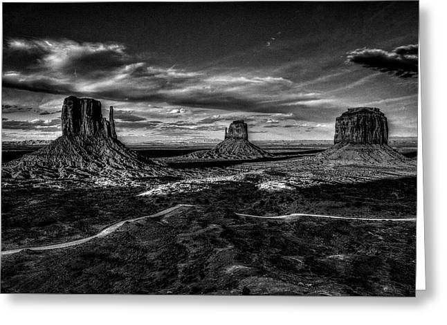 Monument Valley Views Bw Greeting Card