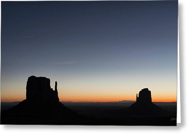Monument Valley Viii Color Greeting Card by David Gordon