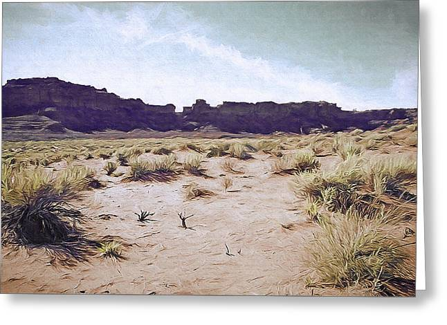 Monument Valley Vista 5 Greeting Card by Steve Ohlsen