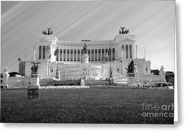 Monumental Architecture In Rome Greeting Card by Stefano Senise