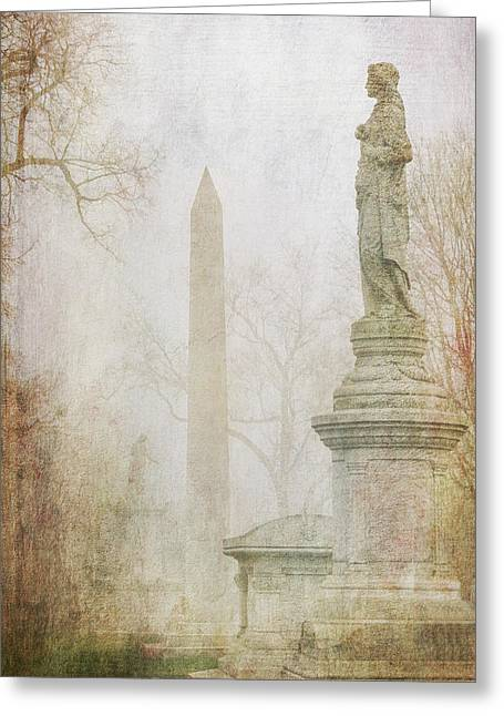Greeting Card featuring the photograph Monumental Fog by Heidi Hermes
