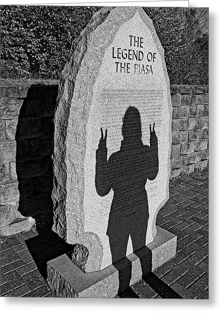Monumental Shadows Peace Out Greeting Card