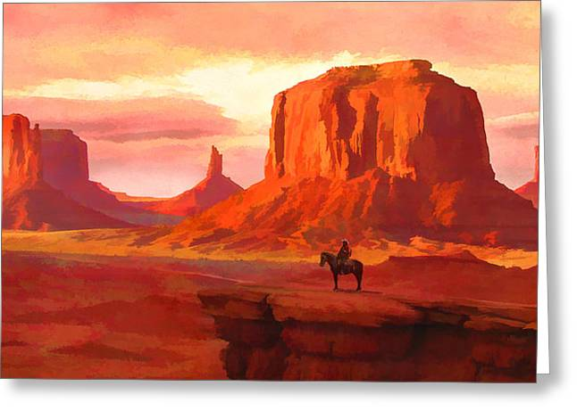 Monumental Sunset Greeting Card