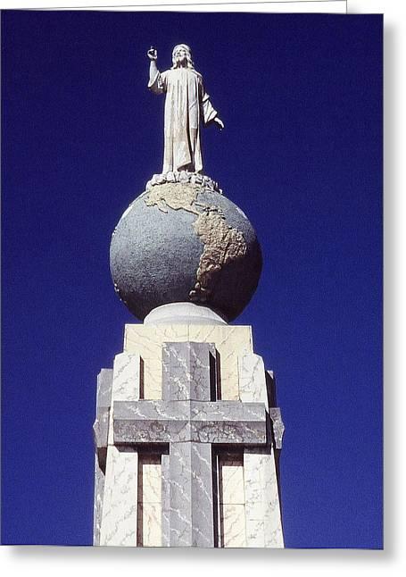 Monumento Al Divino Salvador Del Mundo Greeting Card by Juergen Weiss