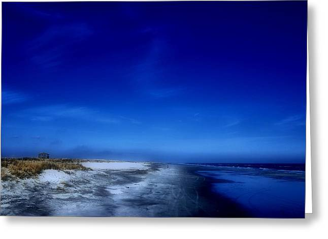 Mood Of A Beach Evening - Jersey Shore Greeting Card