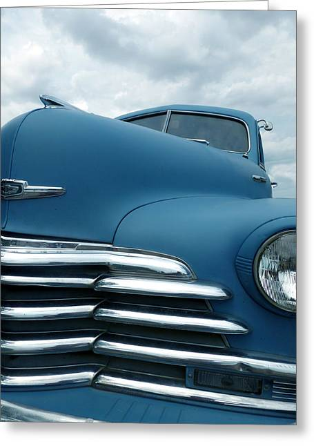 Fleetmaster Greeting Cards - Moody Blue Greeting Card by Jeremiah  Policky
