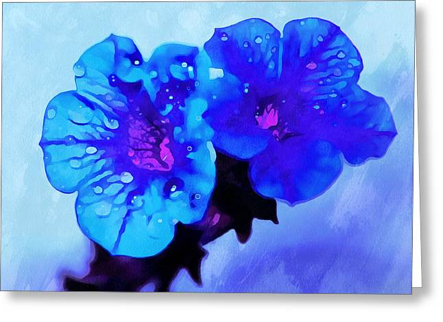 Moody Blues Greeting Card by Krissy Katsimbras