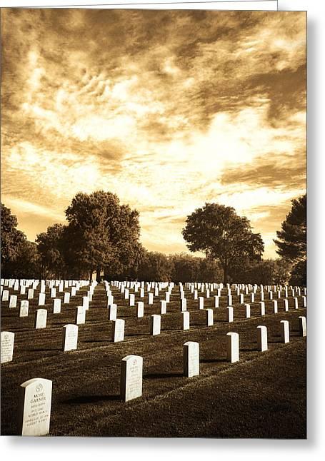 Moody Jefferson Barracks Greeting Card by Bill Tiepelman