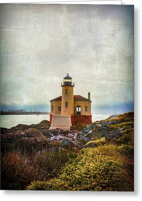 Moody Lighthouse Greeting Card by Garry Gay