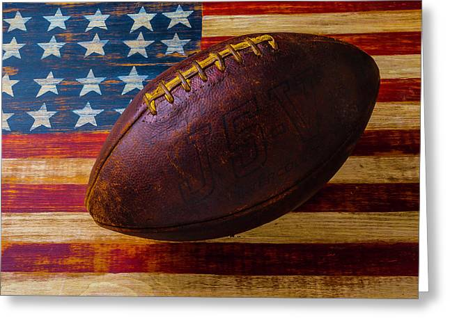 Moody Old Football Greeting Card by Garry Gay