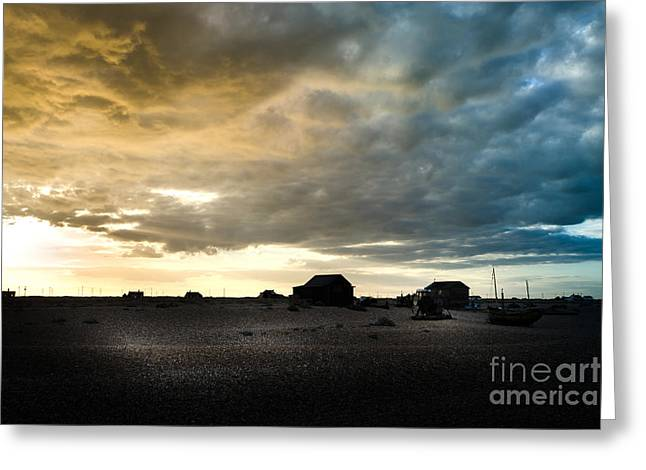 Moody Sky, Dungeness Beach  Greeting Card