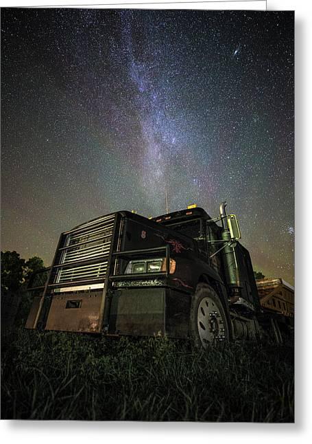 Moody Trucking Greeting Card