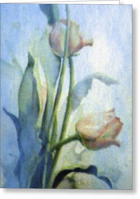 Moody Tulips Greeting Card by Hanne Lore Koehler