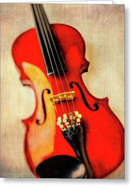 Moody Violin Greeting Card by Garry Gay