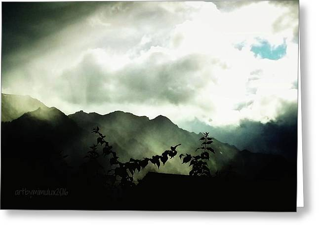 Moody Weather Greeting Card by Mimulux patricia no No