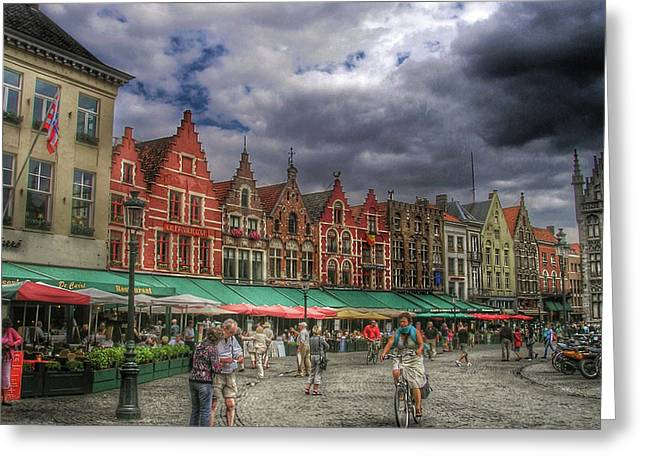 Moody Weekend In Brugge Greeting Card by Connie Handscomb