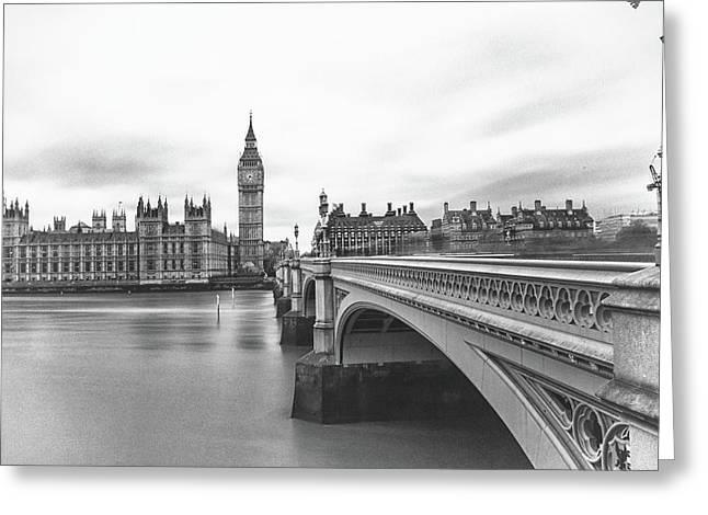 Moody Westminster Bridge Greeting Card