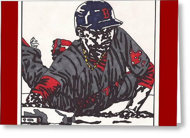 Mookie Betts 1  Greeting Card by Jeremiah Colley