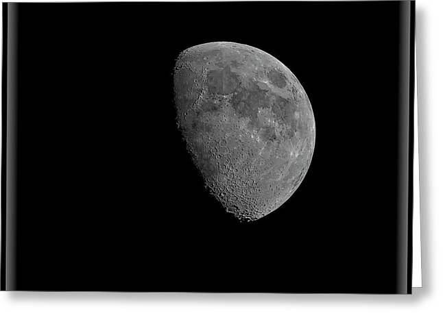 Greeting Card featuring the photograph Moon 67 Percent Fr23 by Mark Myhaver