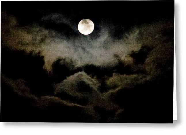 Moon And Clouds Greeting Card by Carla Neufeld