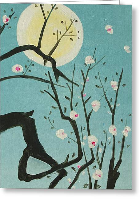 Moon Blossoms Greeting Card