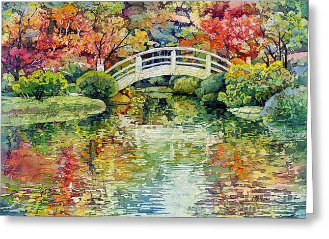 Moon Bridge Greeting Card