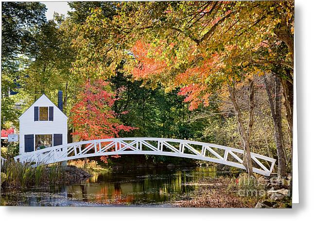 Moon Bridge In Autumn Greeting Card